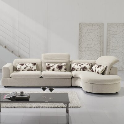 Charlotte Right Hand Facing Sectional by Hokku Designs