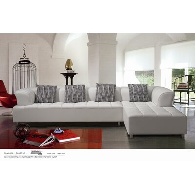 Litz Right Hand Facing Sectional by Hokku Designs