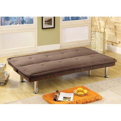 Hokku Designs Convertible Sofa with Chrome Legs