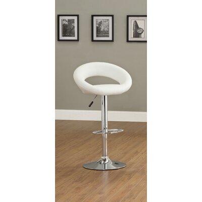 Hokku Designs Theory Adjustable Height Swivel Bar Stool with Cushion