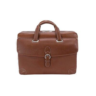Siamod Vernazza Borella Leather Laptop Briefcase