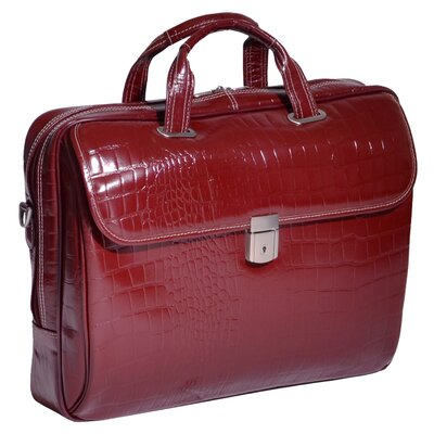 Siamod Monterosso Ignoto Leather Laptop Briefcase