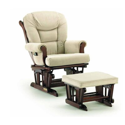 Sleigh Style Matching Glider and Ottoman by Shermag