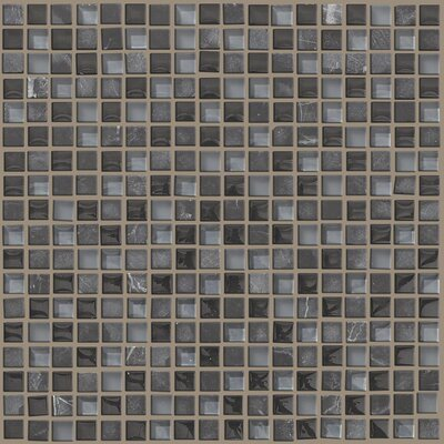 "Shaw Floors Mixed Up 0.625"" x 0.625"" Natural Stone Mosaic Tile in Black Hills"