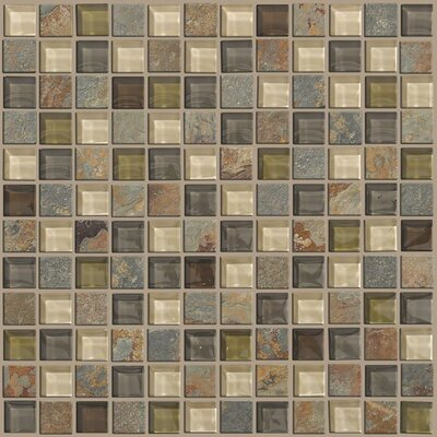"Shaw Floors Mixed Up 1"" x 1"" Slate Mosaic Tile in Spring Valley"