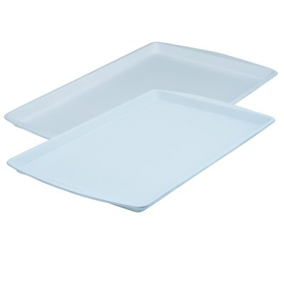 Cerama Bake 2 Piece Cookie Sheet Set by Range Kleen