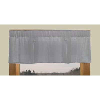 """Shannon 52"""" Pleated Button Curtain Valance Product Photo"""