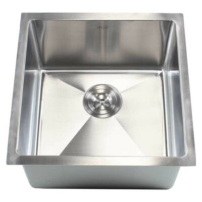 "Ariel 18"" x 18"" Single Bowl Undermount Kitchen Sink Product Photo"