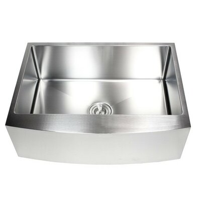 "Ariel 30"" x 21"" Stainless Steel Farmhouse Kitchen Sink Product Photo"