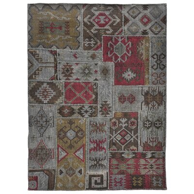 Lavaggio Charcoal Patchwork Rug by Kosas Home