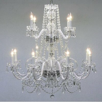 12 Light Crystal Chandelier by Harrison Lane