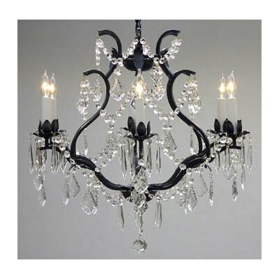 Harrison Lane Maria Theresa 6 Light Crystal Chandelier