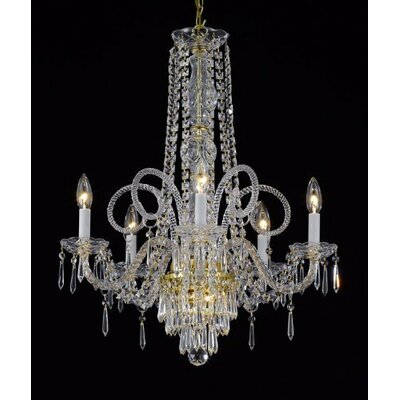 6 Light Crystal Chandelier by Harrison Lane