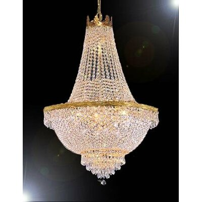 French Empire 9 Light Crystal Chandelier Product Photo