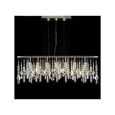 Modern 5 Light Crystal Chandelier Product Photo