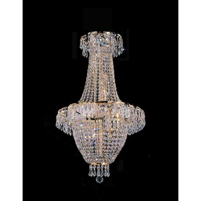 Harrison Lane French Empire 4 Light Crystal Chandelier