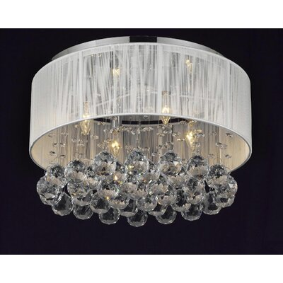 4 Light Crystal Chandelier Product Photo