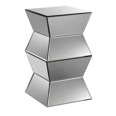 Lisette Mirrored Side Table by Stein World