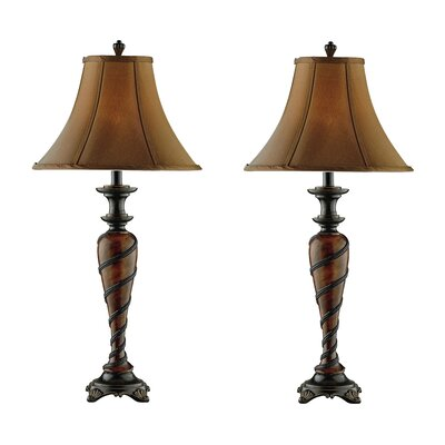 """Stein World Roped 32"""" H Table Lamp with Bell Shade"""