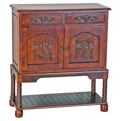 Windsor Hand Carved Wood Hall Console Table by International Caravan