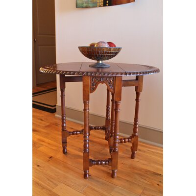 Windsor Hand Carved Wood Foldout Console Table by International Caravan