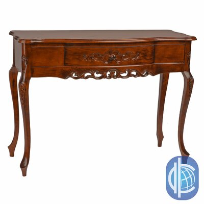 Windsor Hand Carved Wood Console Table by International Caravan
