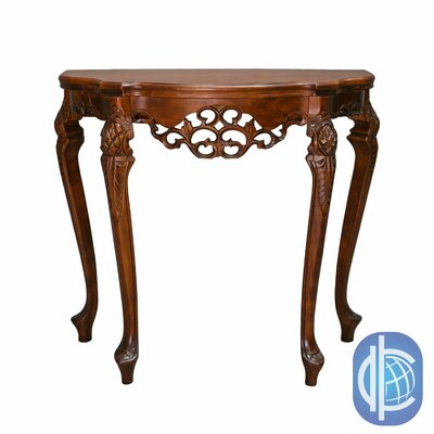 Windsor Hand Carved Wood Indoor Console Table by International Caravan