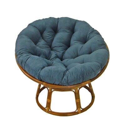"""International Caravan 42"""" Rattan Papasan Chair with Microsuede Cushion"""