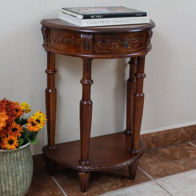 Windsor Hand Carved Half Moon Console Table by International Caravan