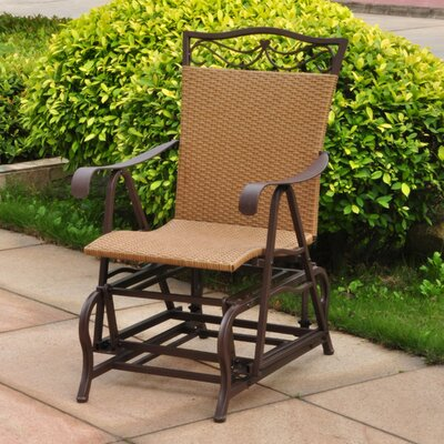 International Caravan Valencia Outdoor Wicker Patio Glider Chair