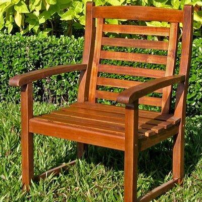International Caravan Acacia Patio Trinidad Dining Arm Chair