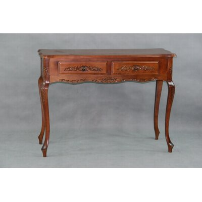 Windsor Hand Carved 2-Drawer Console Table by International Caravan