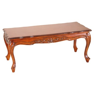 Windsor Hand Carved Wood Coffee Table by International Caravan