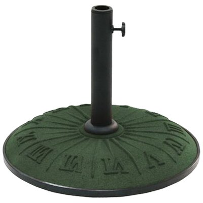 International Caravan Resin Compound Roman Numeral Patio Umbrella Stand