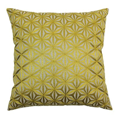 Indian Diamond Mosaic Hand-embroidered Cotton Throw Pillow by Blazing Needles