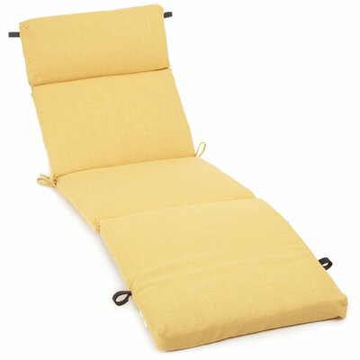 Blazing needles solid outdoor chaise lounge cushion for Blazing needles chaise cushion