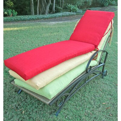 Blazing needles outdoor patio chaise lounge cushion for Blazing needles chaise cushion