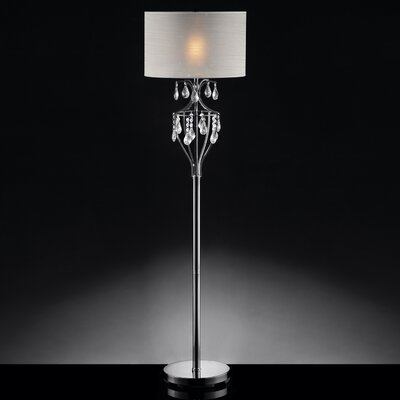 Kingstown home 60quot cortona refined crystal floor lamp for Cortona 3 light crystal floor lamp