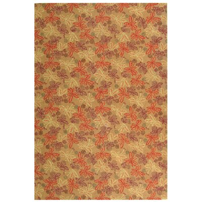 Meadow Crimson/Clover Rug by Martha Stewart Rugs