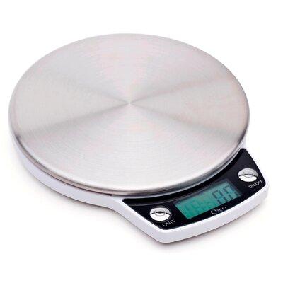 Precision Pro Stainless-Steel Digital Kitchen Scale with Oversized Weighing Platform by Ozeri