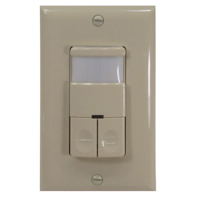 dual relay wall switch occupancy sensor by nicor lighting. Black Bedroom Furniture Sets. Home Design Ideas