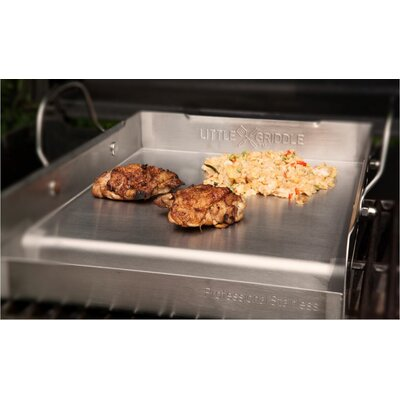 Griddle-Q Half-Size Stainless Steel BBQ Griddle by Little Griddle Innovations