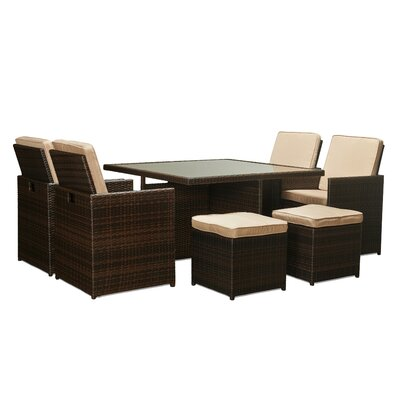 Shalimar 9 Piece Patio Set with Cushions by The-Hom