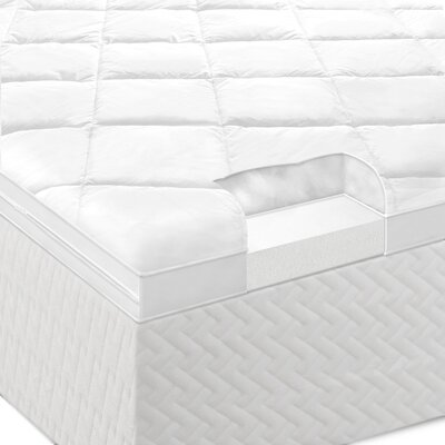 "Lucid Lucid 4"" Gelled Microfiber and Memory Foam Mattress"