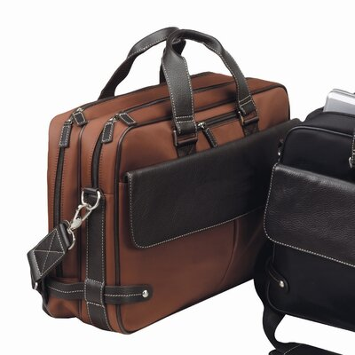 The Trans Continental Leather Laptop Briefcase by Bellino