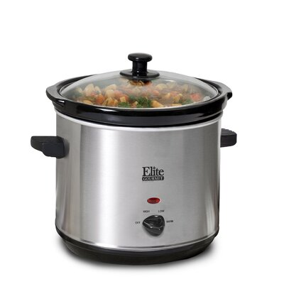 Gourmet 3-Quart Slow Cooker by Elite by Maxi-Matic