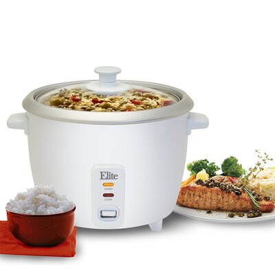 Cuisine 16-Cup Rice Cooker with Glass Lid by Elite by Maxi-Matic