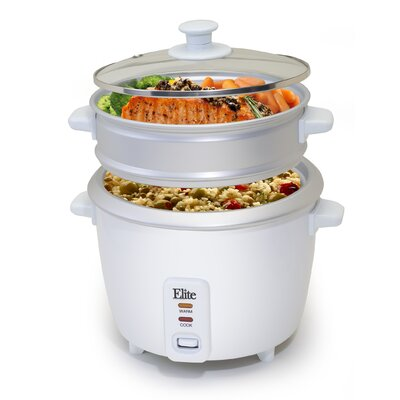 Gourmet 16-Cup Rice Cooker with Steam Tray by Elite by Maxi-Matic