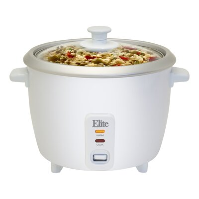 Cuisine 6 Cup Rice Cooker with Glass Lid by Elite by Maxi-Matic