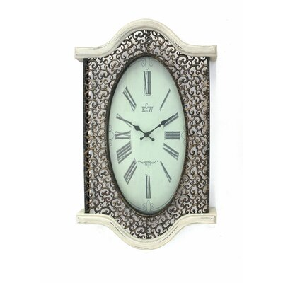 Metal and Wood Wall Clock by Teton Home
